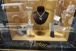 カルティエ(Cartier)本店のディスプレイ
