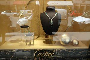 カルティエ(Cartier)本店のディスプレイ1