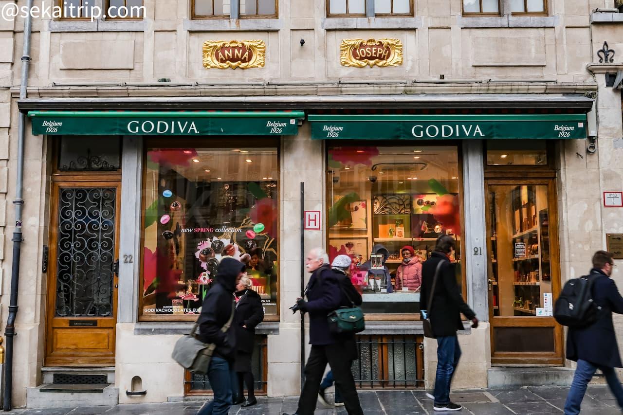 ブリュッセルのゴディバ(GODIVA)本店