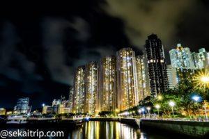 愛秩序灣海濱公園(Aldrich Bay Park)で撮影した夜景