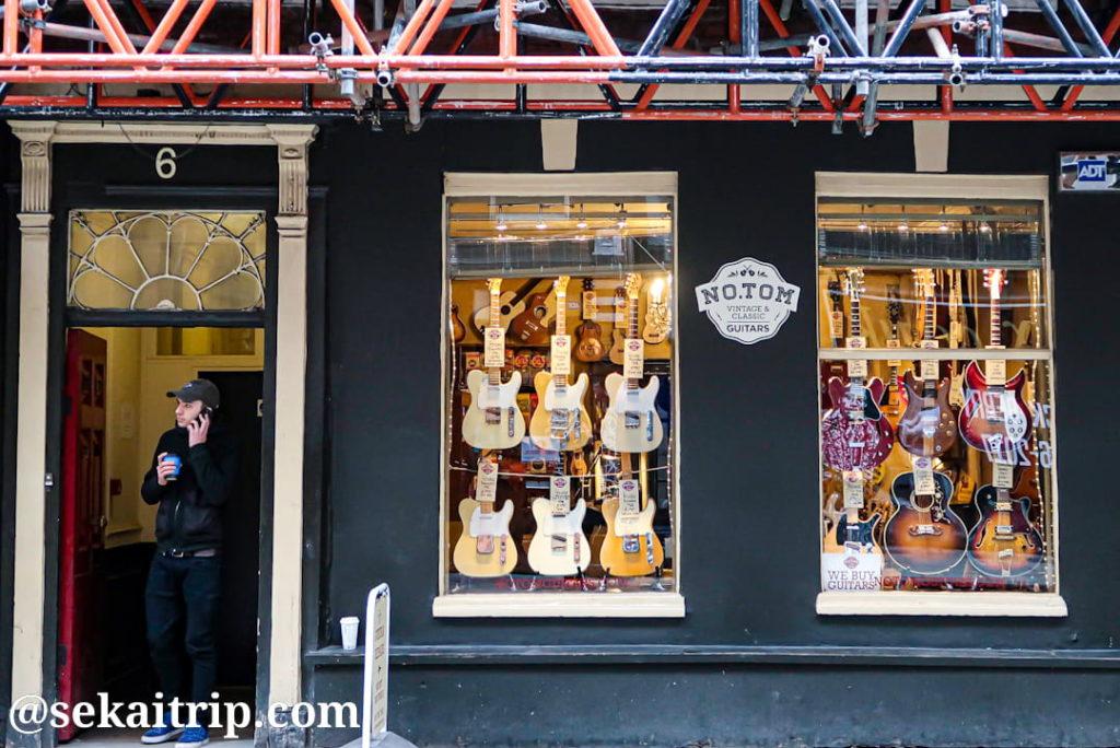 デンマーク・ストリートのNo. Tom Guitars