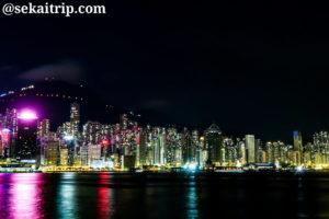 ウエスト・カオルーン・カルチュラル・ディストリクト(West Kowloon Cultural District)の夜景