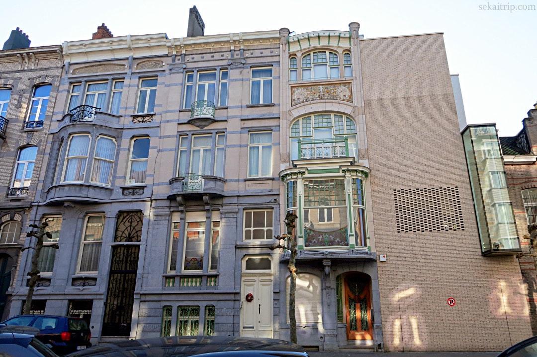 ポール・コーシー等が手掛けた建物(Avenue Albert Giraud 9, 11, 13)
