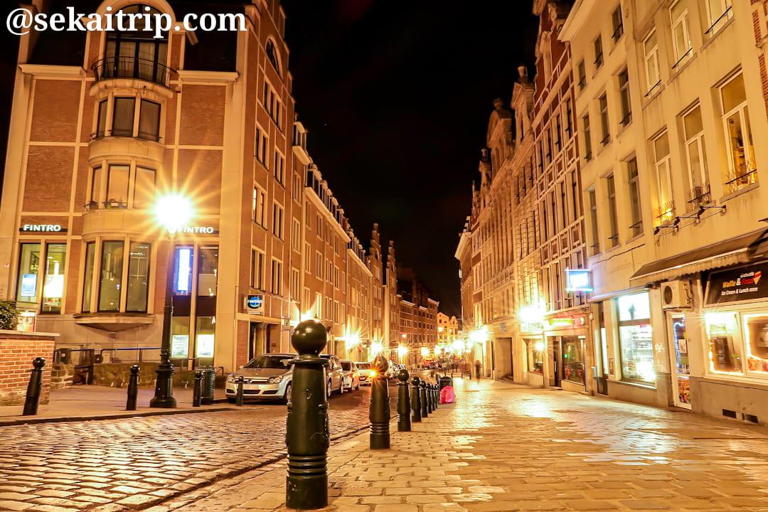 ブリュッセルのモンターニュ通り(Rue de la Montagne)