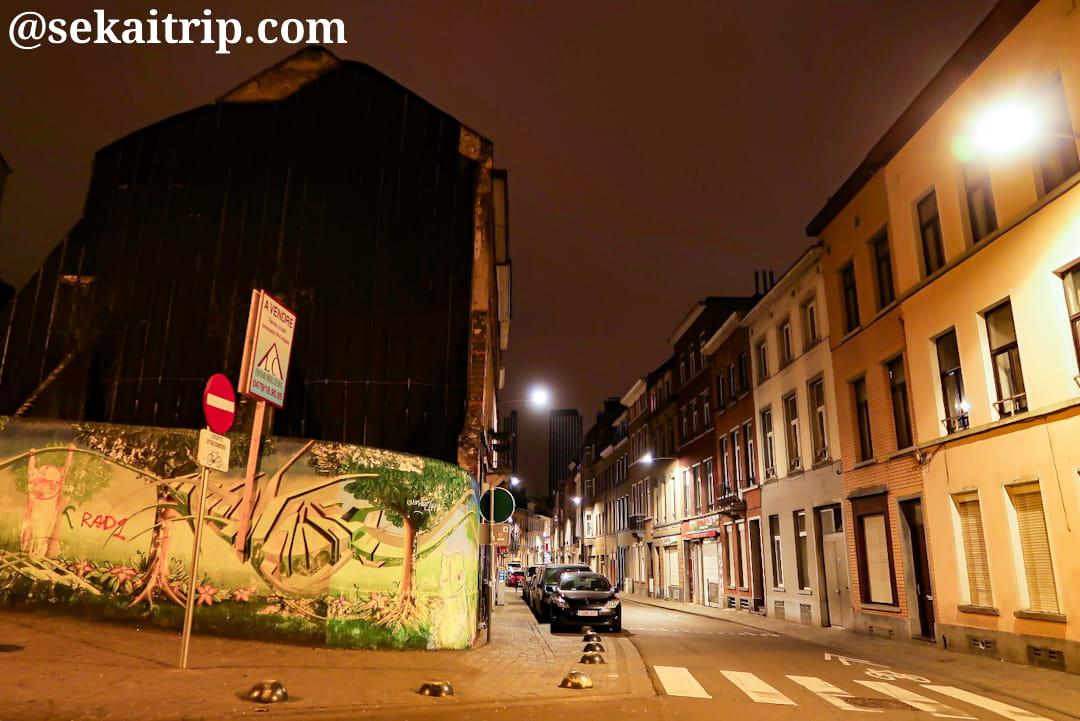 夜のヴェルト通り(Rue Verte)