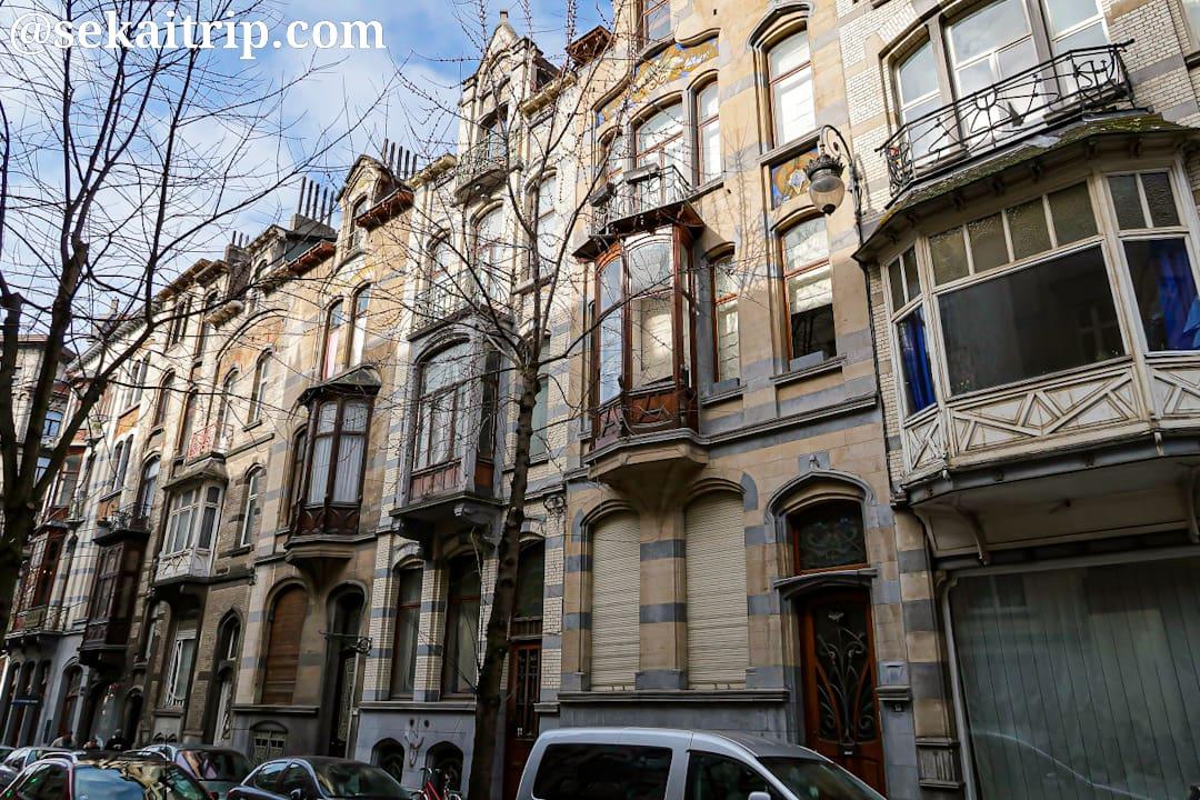 Rue Vanderschrickの建物群