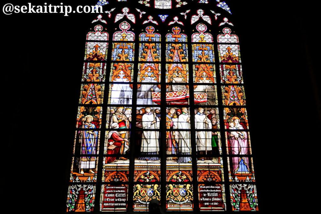 サン・ミッシェル大聖堂のステンドグラス