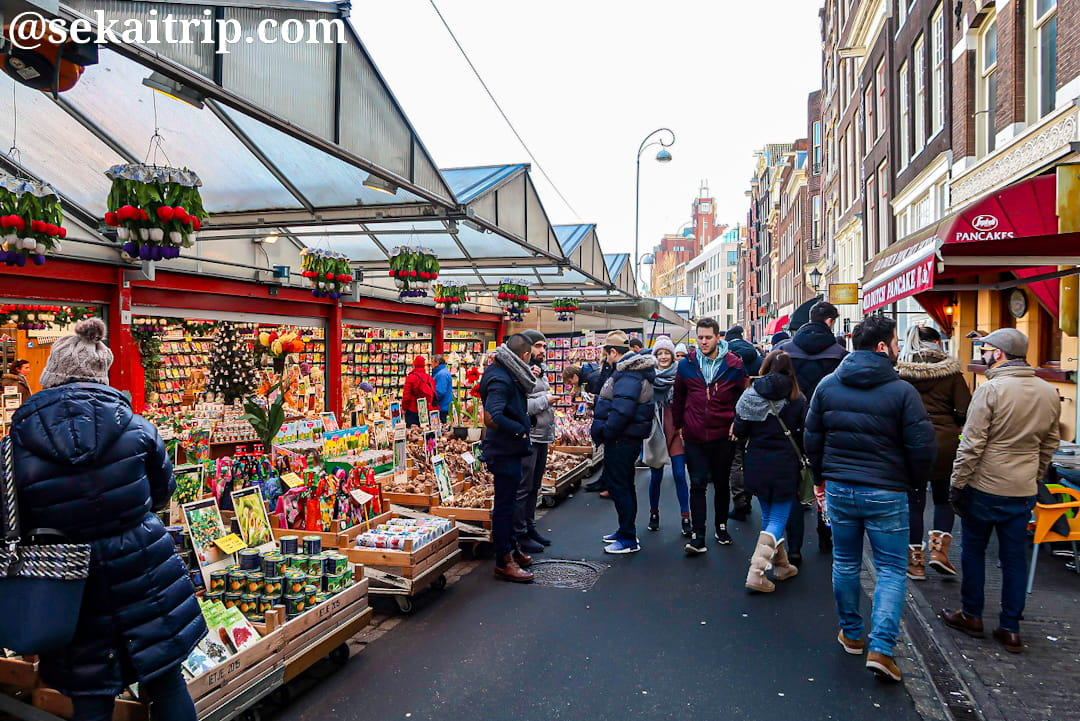 アムステルダムの花市場(Bloemenmarkt)