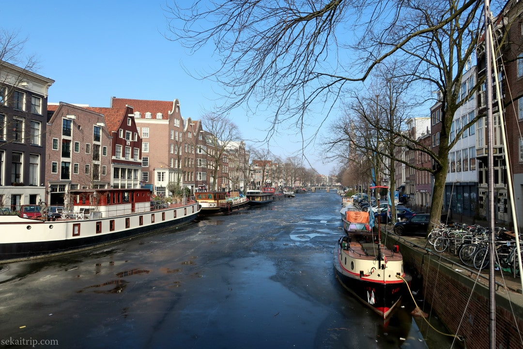 アムステルダムのプリンセン運河(Prinsengracht)