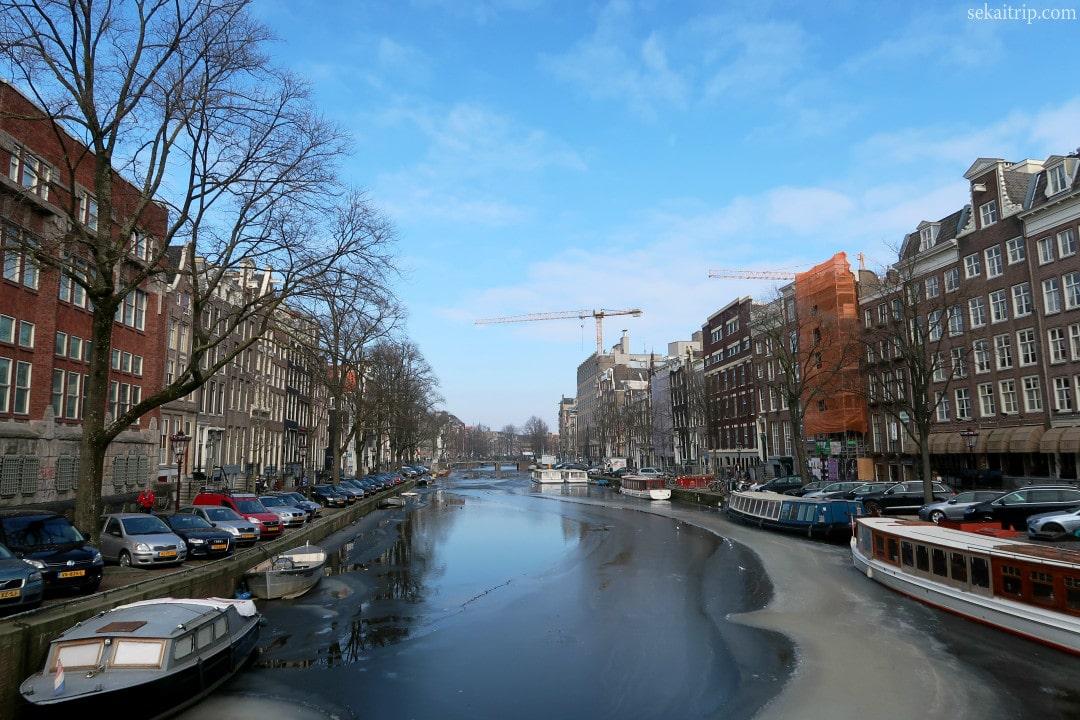 アムステルダムのシンゲル運河(Singel)