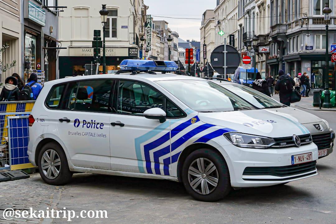ブリュッセルの警察車両