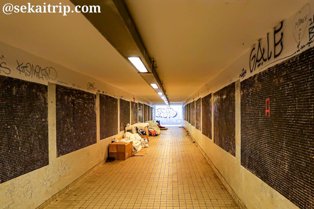 ブリュッセル・ルイーズ通りの地下通路