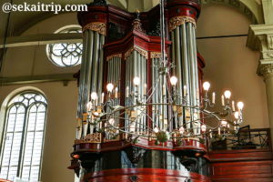 アムステルダムの北教会のパイプオルガン