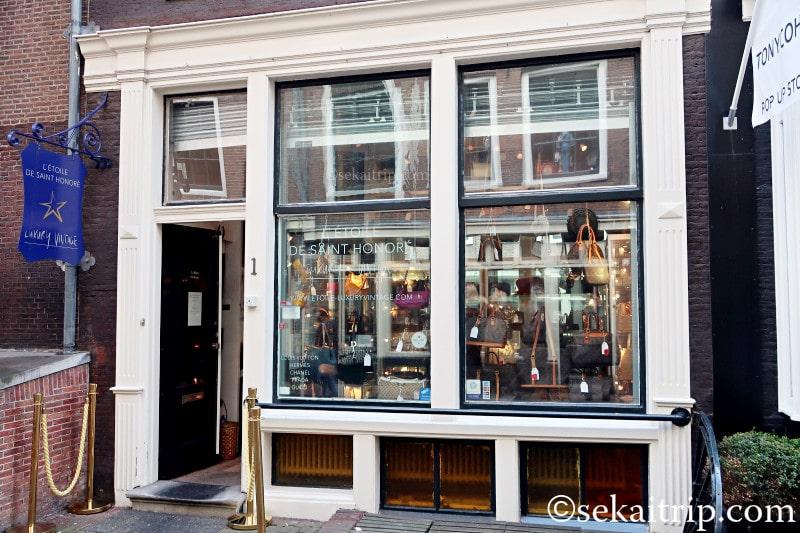 アムステルダム・ベレン通りのヴィンテージショップ