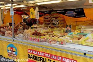 ダッペル市場(Dappermarkt)のパン屋さん