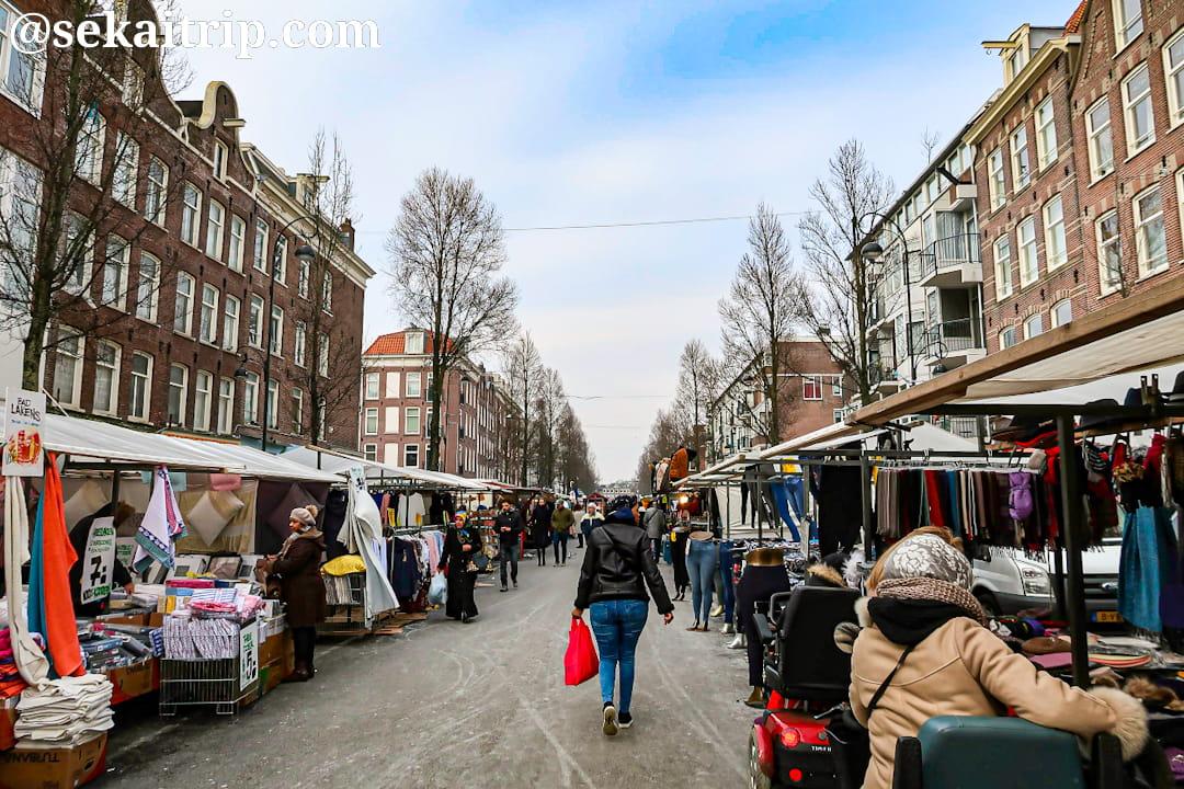 アムステルダムのダッペル市場(Dappermarkt)