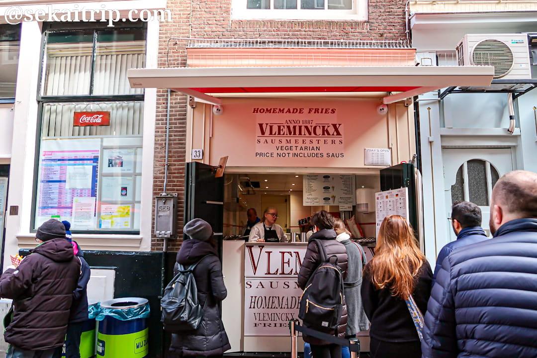 アムステルダムのフライドポテトの人気店「Vleminckx」