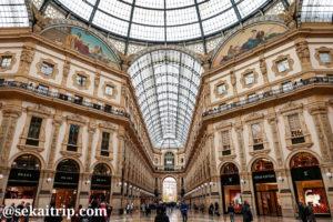 ヴィットーリオ・エマヌエーレ2世のガッレリア(Galleria Vittorio Emanuele II)内