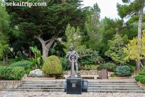 サン・マルタン庭園にあるアルベール1世の銅像