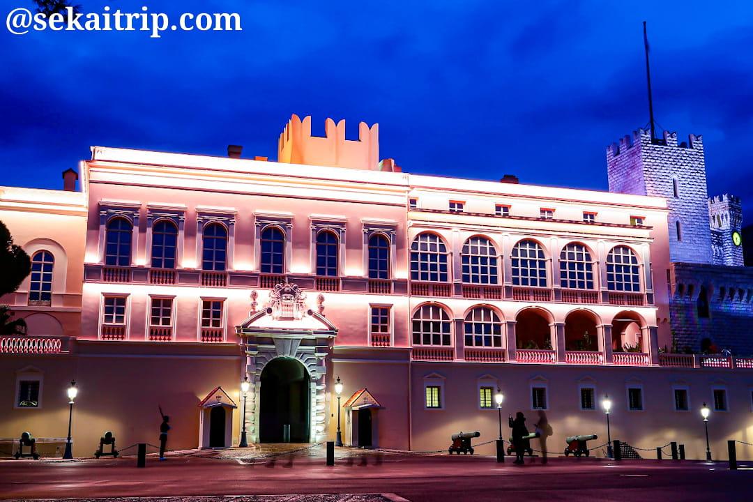 大公宮殿(Palais Princier de Monaco)のライトアップ