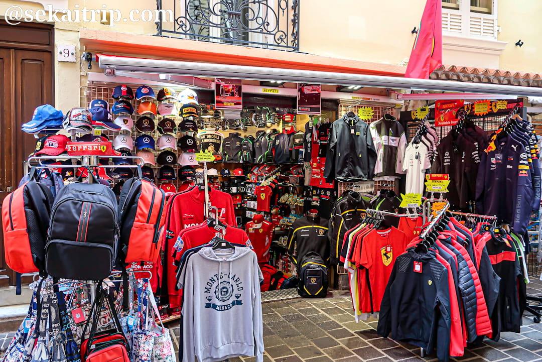 モナコ旧市街のギフトショップ
