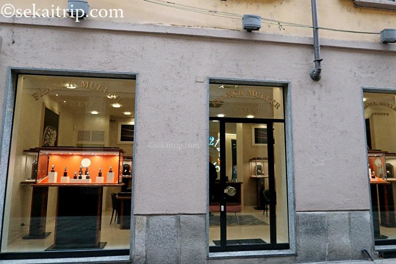 スピガ通り(Via della Spiga)のフランク・ミュラー