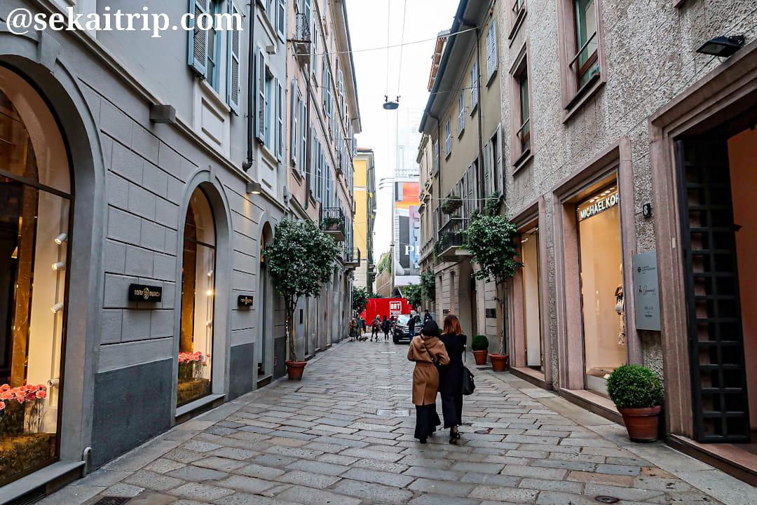 ミラノのスピガ通り(Via della Spiga)