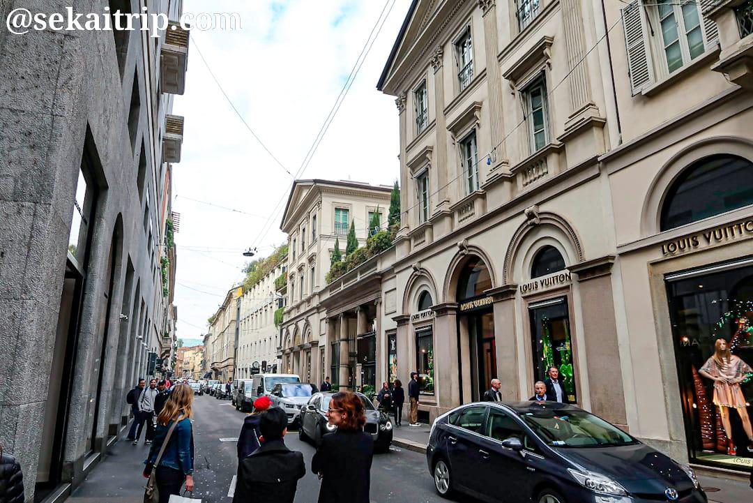 ミラノのモンテ・ナポレオーネ通り(Via Monte Napoleone)