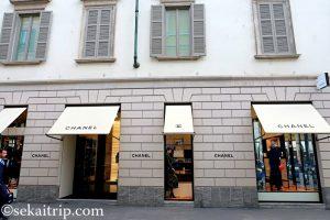 サンタンドレア通り(Via Sant'Andrea)のシャネル