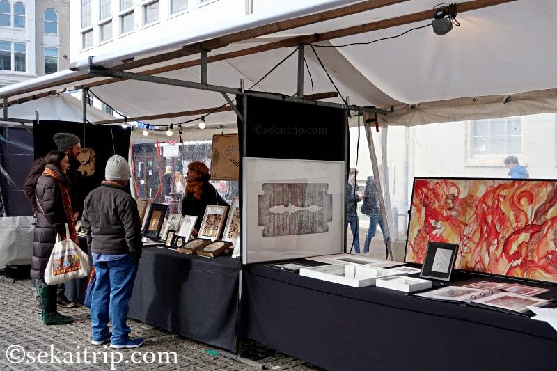 アートスクエア・スパイ(Artplein-Spui)で売られていた絵画作品