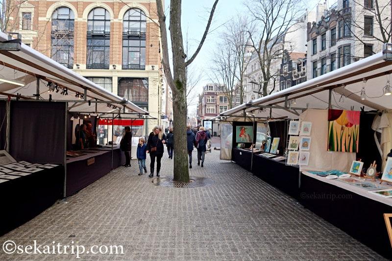 アムステルダムのアートスクエア・スパイ(Artplein-Spui)