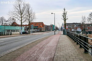 アムステルダムの自転車専用レーン