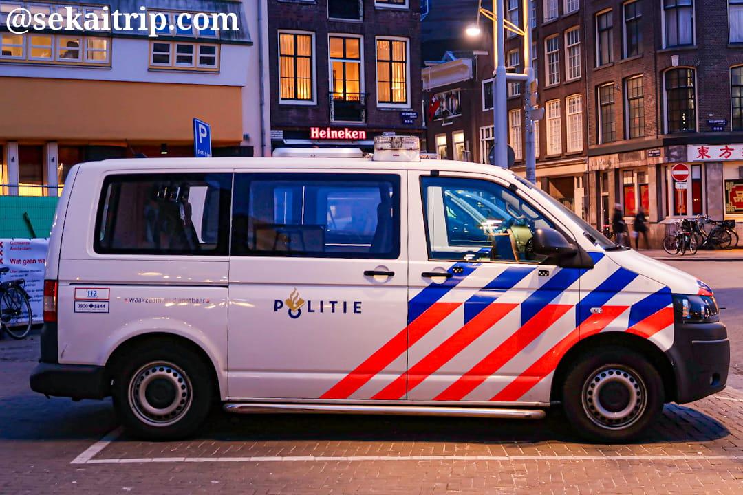 アムステルダムの警察車両