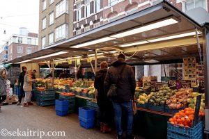 テン・カーテ市場(Ten Kate Markt)の八百屋さん