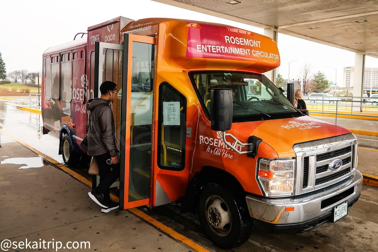 ファッション・アウトレッツ・オブ・シカゴに向かう無料バス
