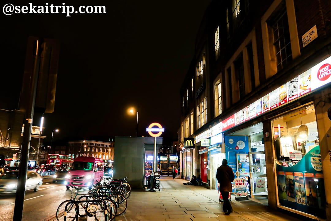 23時前のセント・パンクラス駅(Saint Pancras Station)