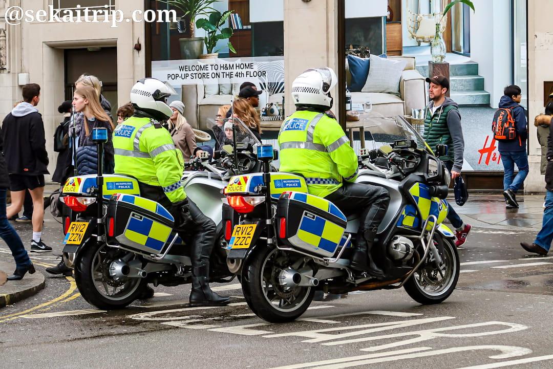 ロンドンの警察官
