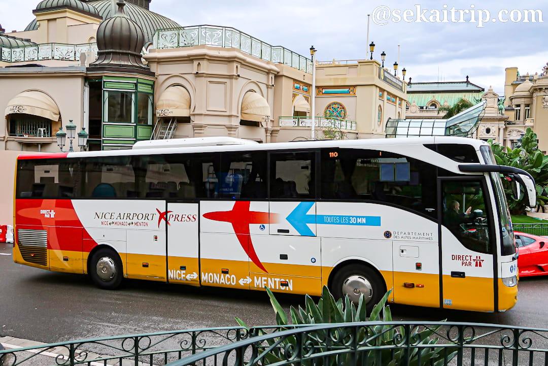 コート・ダジュール空港とモナコを結ぶシャトルバス