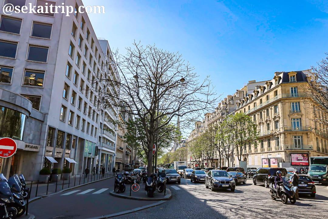 パリのジョルジュ・サンク通り