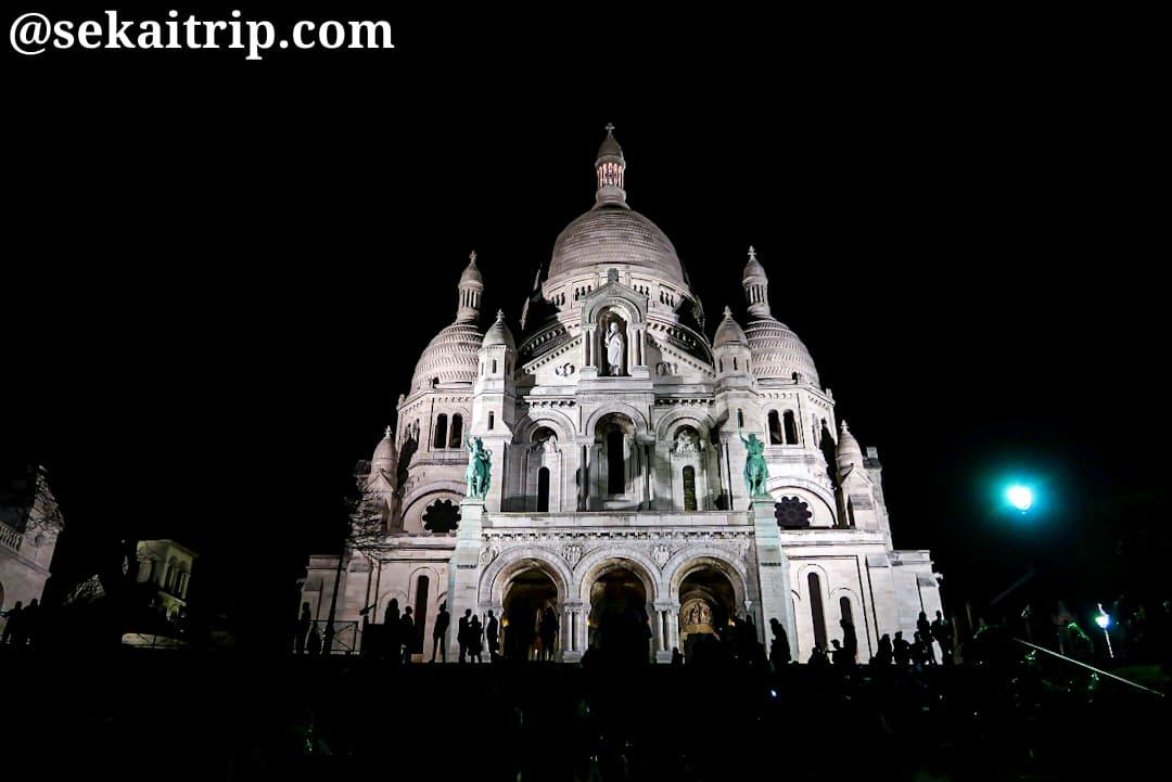 夜のサクレ・クール寺院(23時過ぎ)