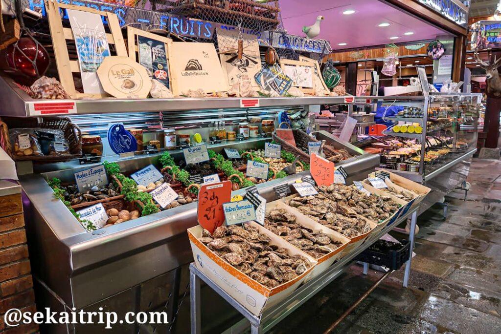 パリ・マーケットの牡蠣売り場