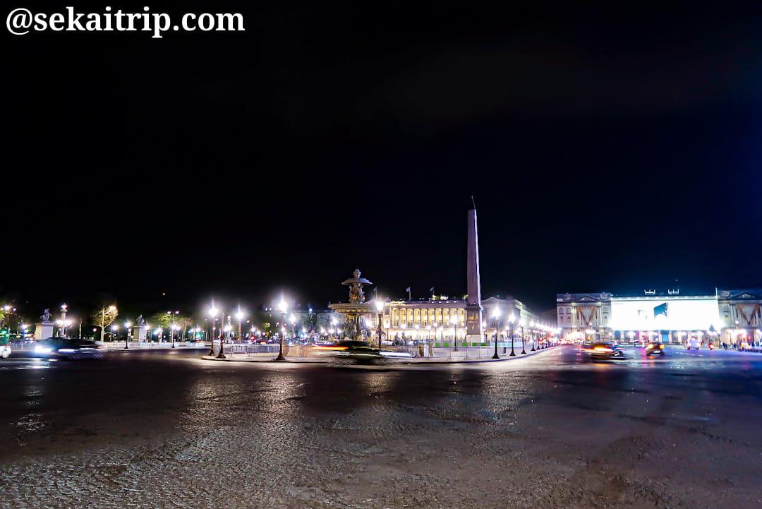 夜のコンコルド広場(23時過ぎ)