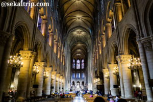 ノートルダム大聖堂(Cathédrale Notre-Dame de Paris)の内部