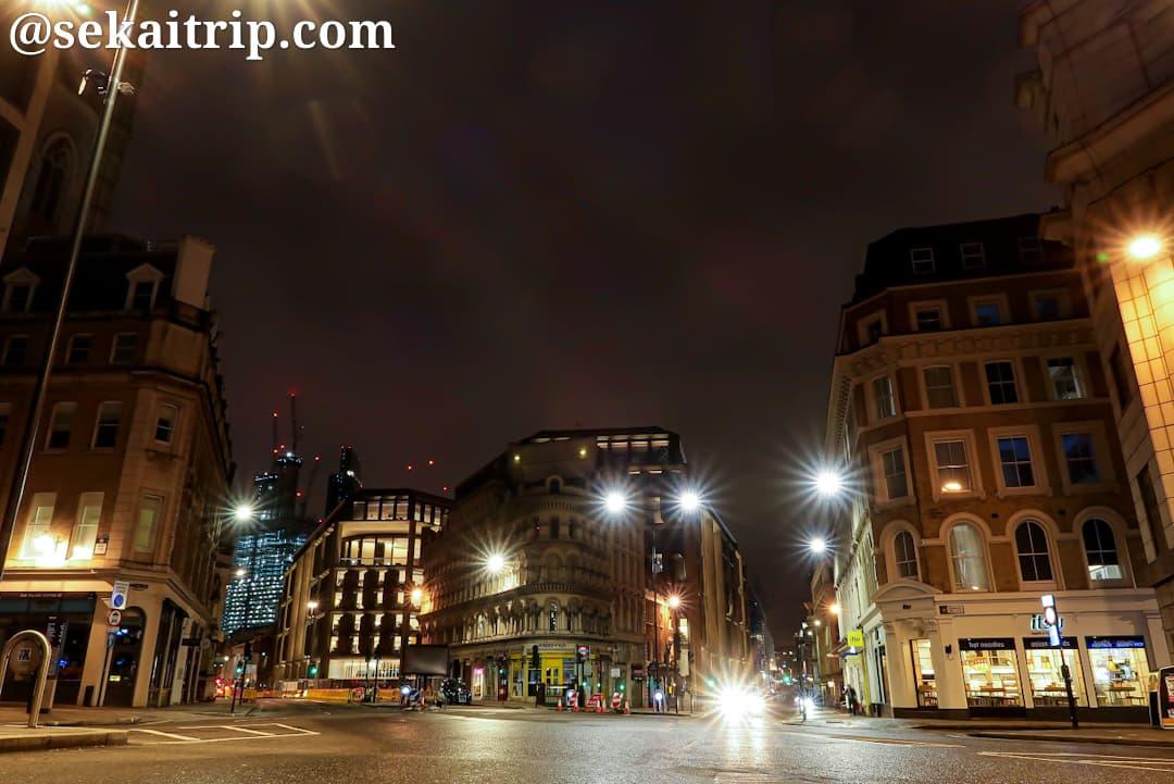 マンション・ハウス(Mansion House)駅周辺の夜景