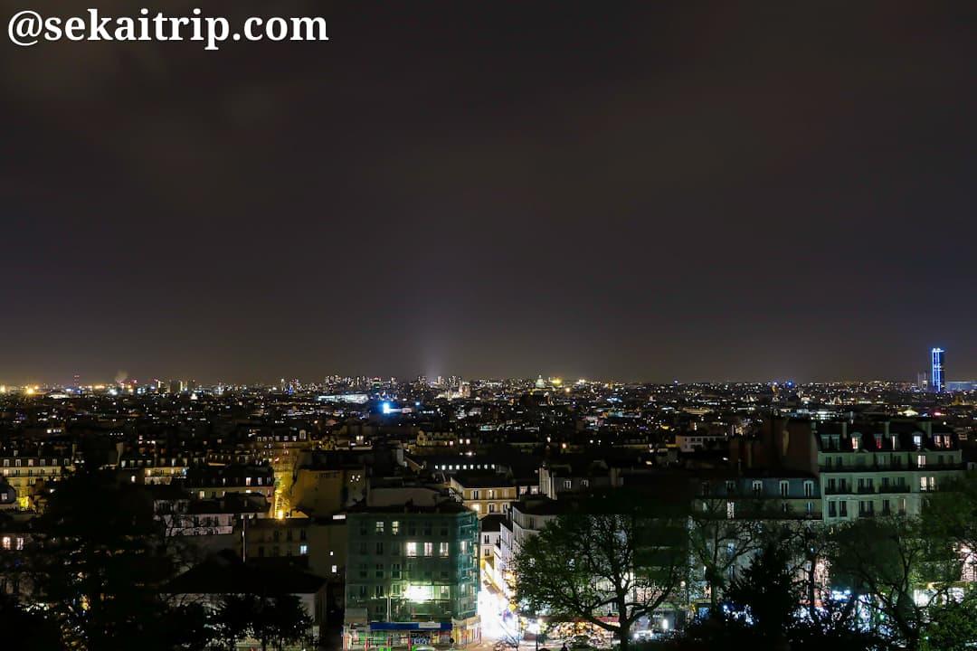サクレ・クール寺院付近から見た夜景