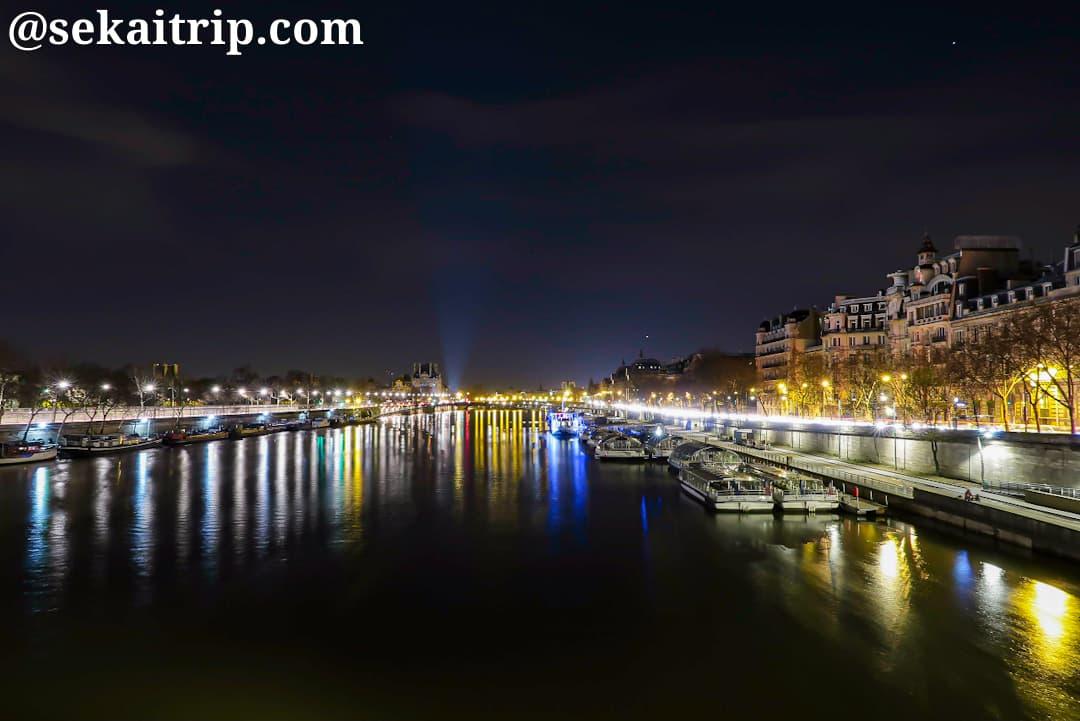 コンコルド橋(Pont De la Concorde)から撮影した夜景