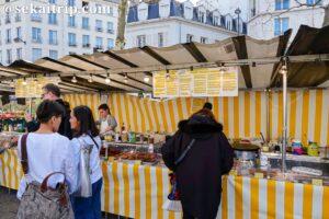 バスティーユ市場(Marché Bastille)のクレープ屋さん
