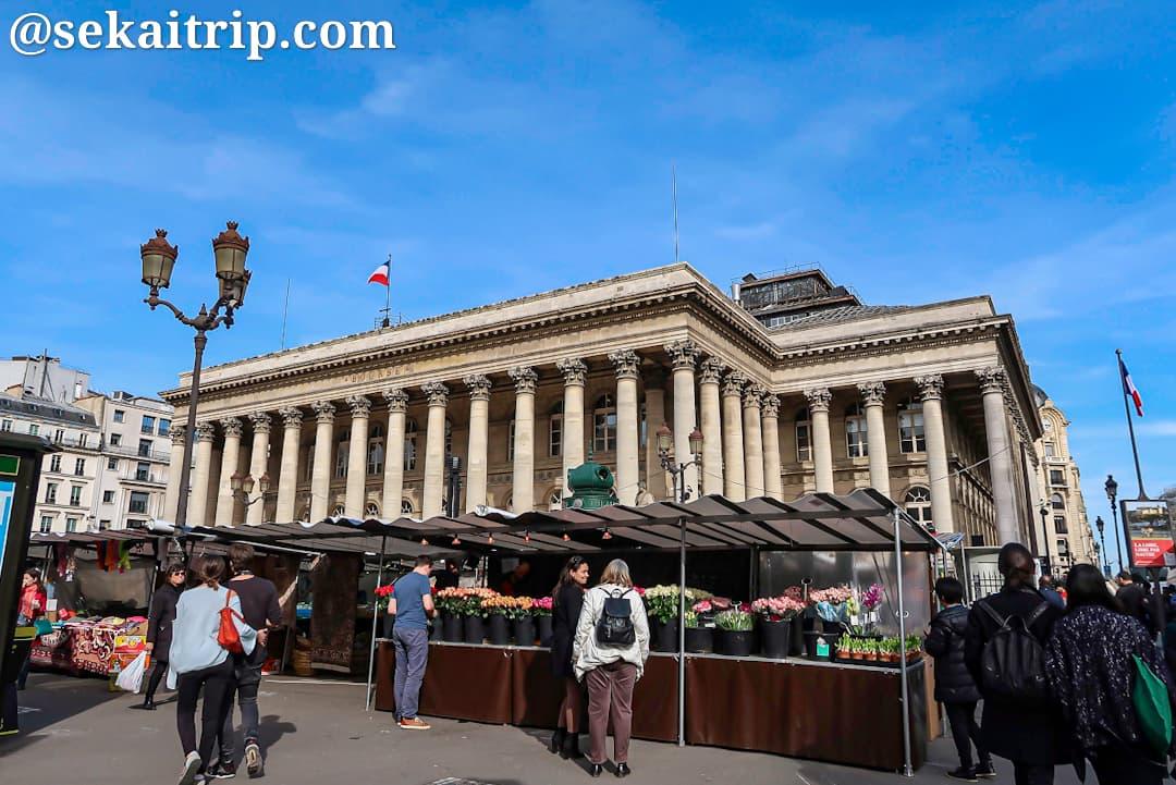 パリのブルス市場(Marché Bourse)
