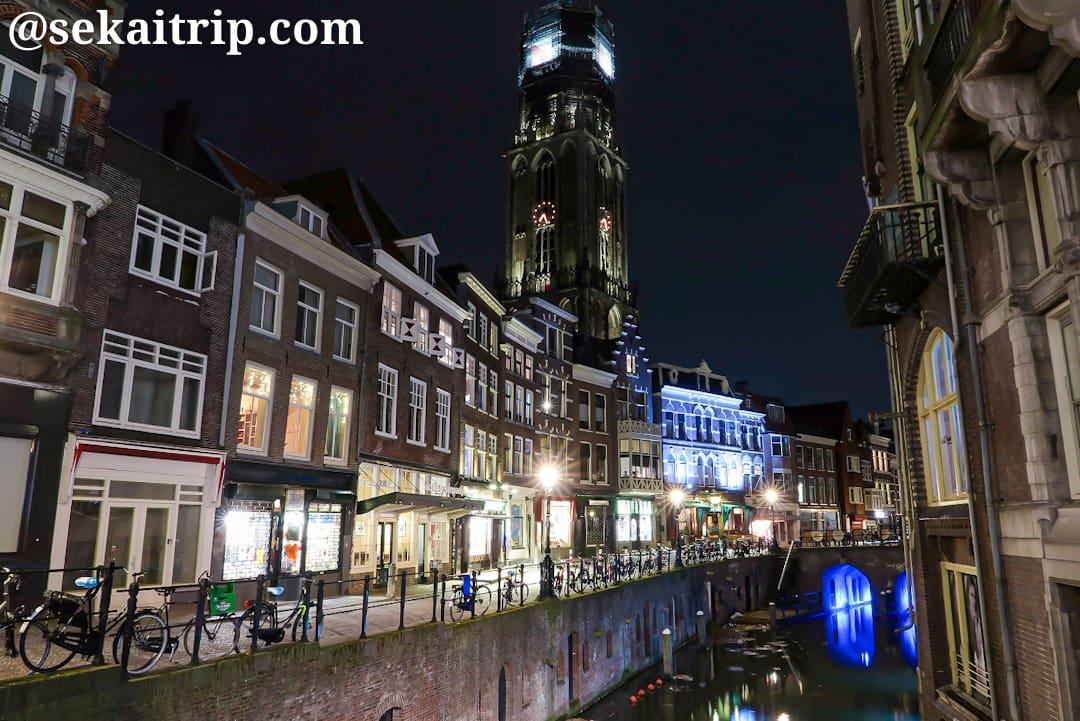 スタドハイスブルグ(Stadhuisbrug)から撮影したオーデフラハト(Oudegracht)