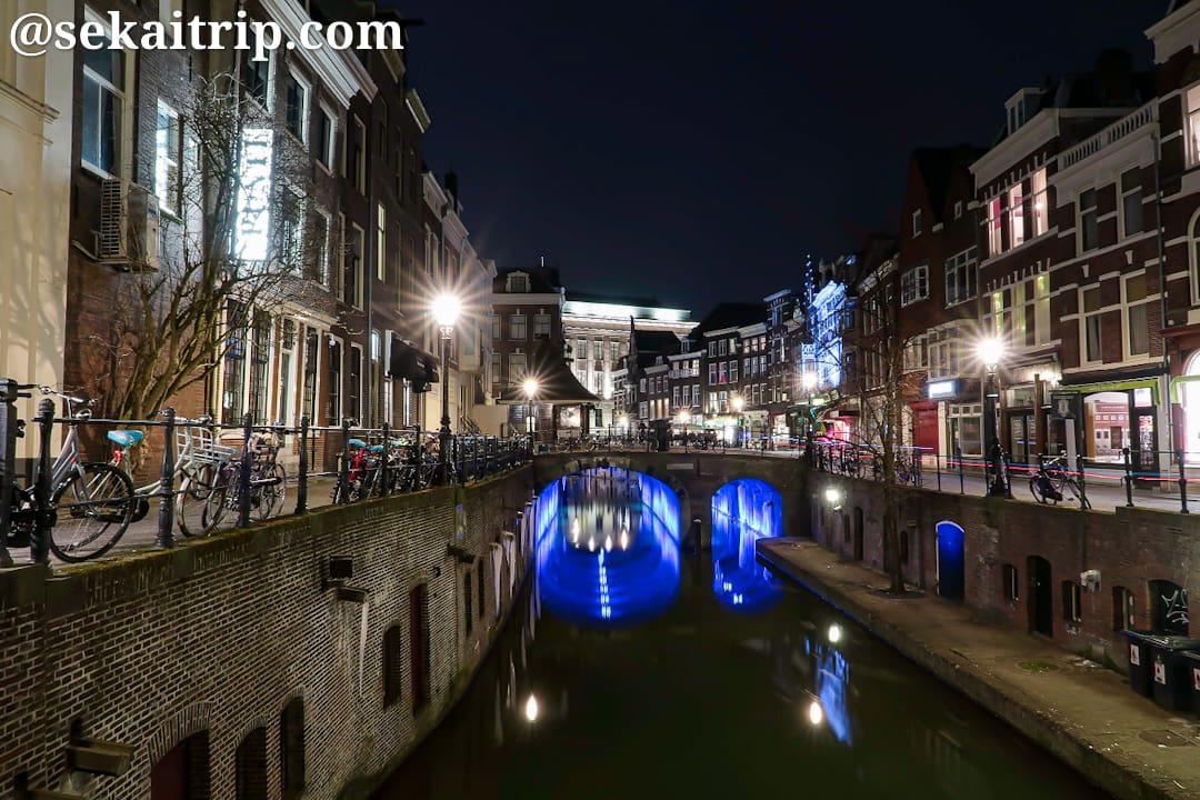 マールテンスブルグ(Maartensbrug)から撮影したオーデフラハト(Oudegracht)